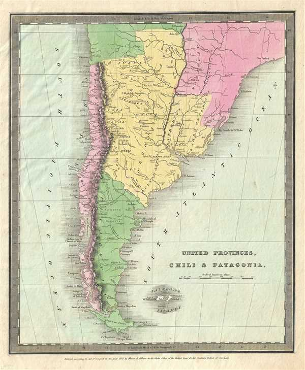 United Provinces Chili And Patagonia Geographicus Rare Antique Maps - Map of united provinces india
