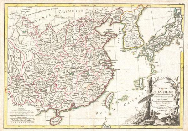 L'Empire de la Chine d'Apres L'Atlas Chinois avec Les Isles du Japon. - Main View