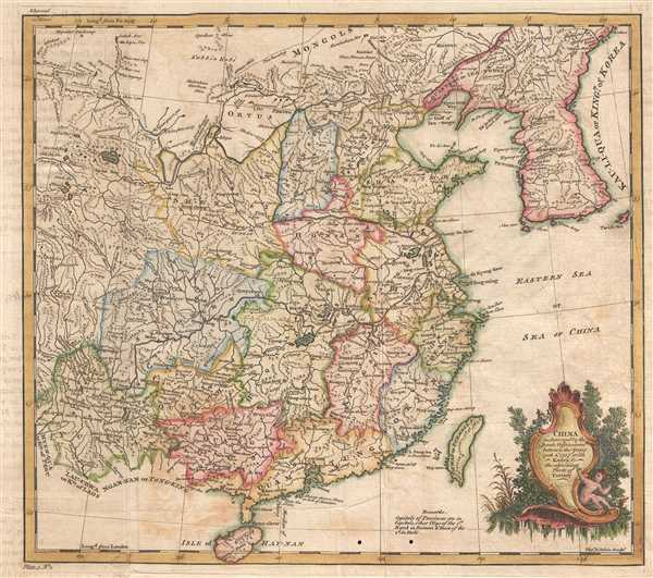 China as Surveyed by the Jesuit Missionaries between the Years 1708 and 1717 with Korea and the ajoining Parts of Tartary. - Main View