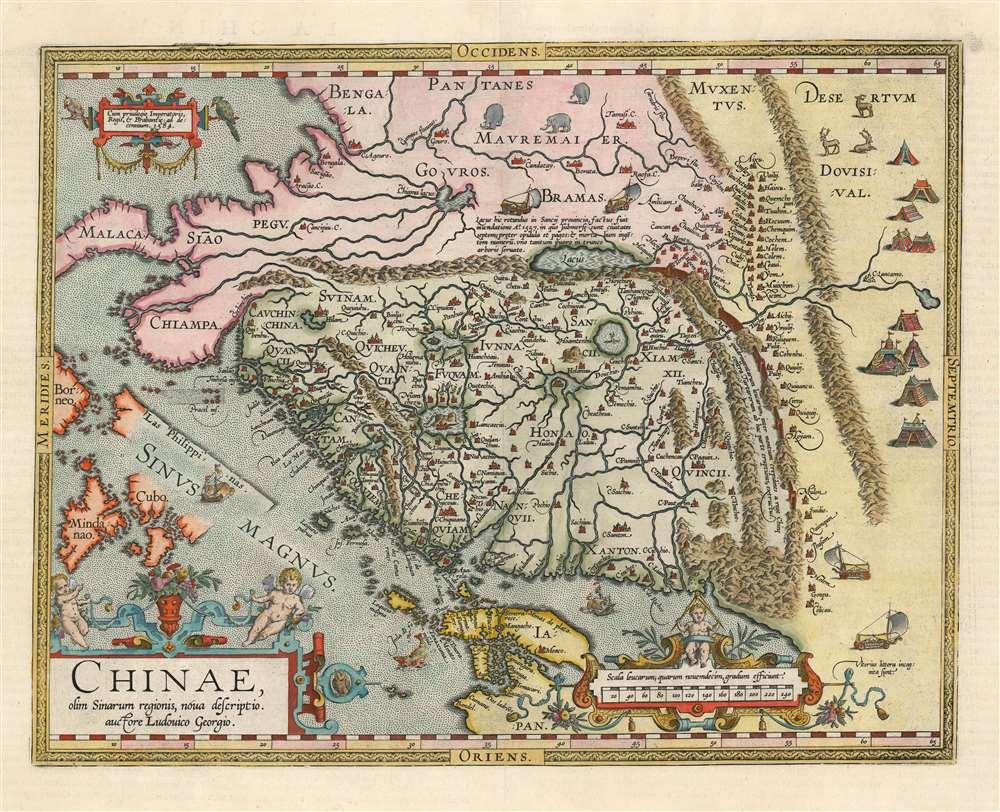 Chinae, olim Sinarum regionis, nova descriptio. auctore Ludovico Georgio. - Main View