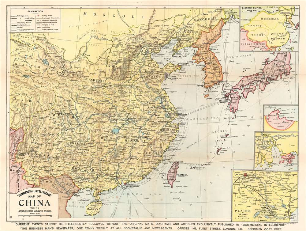 1904 Commercial Intelligence Map of China