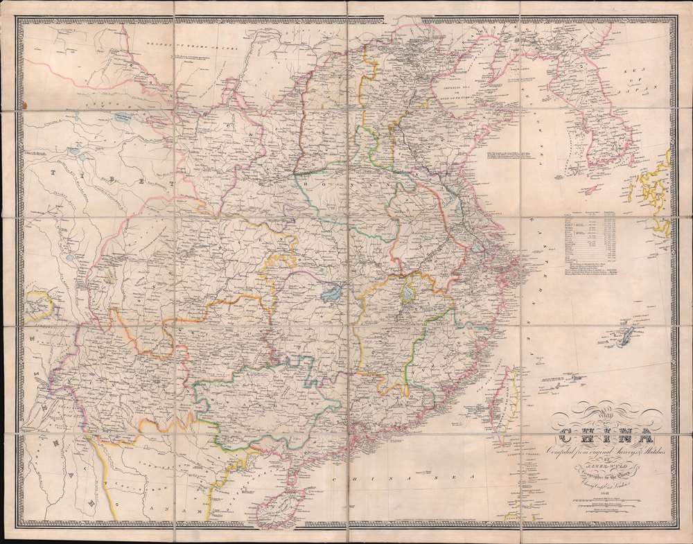 Map of China Compiled from original Surveys and Sketches. - Main View