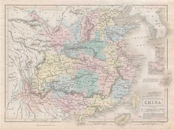 1851 Black Map of China