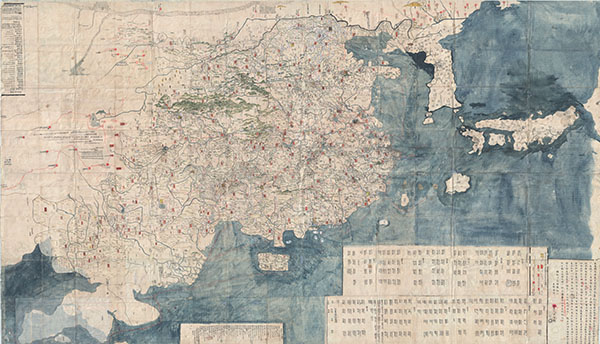 大明一統二京十三省図 / Great Ming Unification Two Capitals and Thirteen Provinces Map / Da Ming Yi Yong Er Jing Shi San Shen Tu