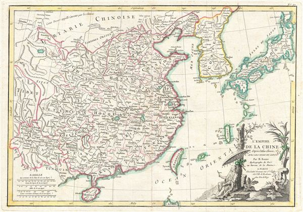 L'Empire de la Chine d'apres l'Atlas Chinois, Avec les Isles du Japon. - Main View