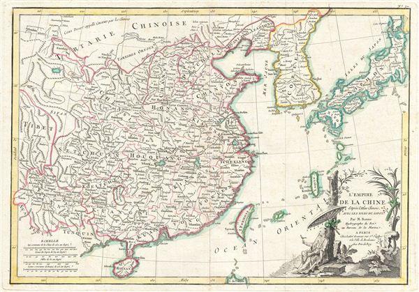 L'Empire de la Chine d'apres l'Atlas Chinois, Avec les Isles du Japon.