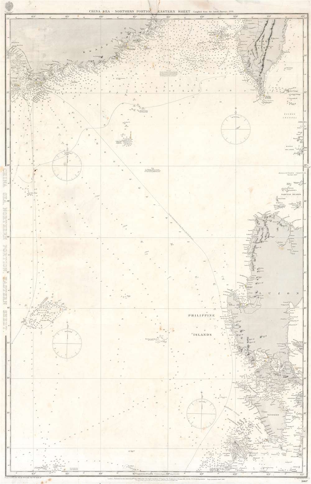 China Sea, Northern Portion, Eastern Sheet. - Main View