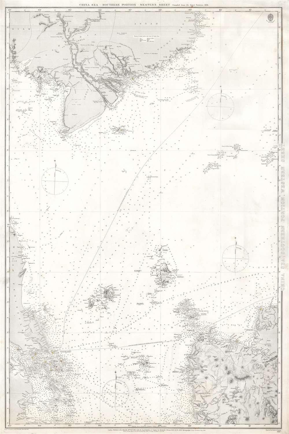 China Sea, Southern Portion, Western Sheet.
