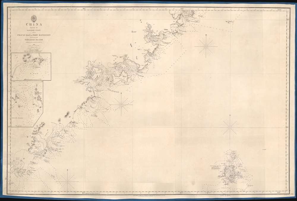 China Sheet IV. Eastern Coast from Chauan Bay to Port Matheson Including the Pescadore Islands. - Main View