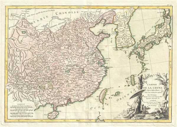 L'Empire de la Chine d'Apres L'Atlas Chinois avec Les Isles du Japon.