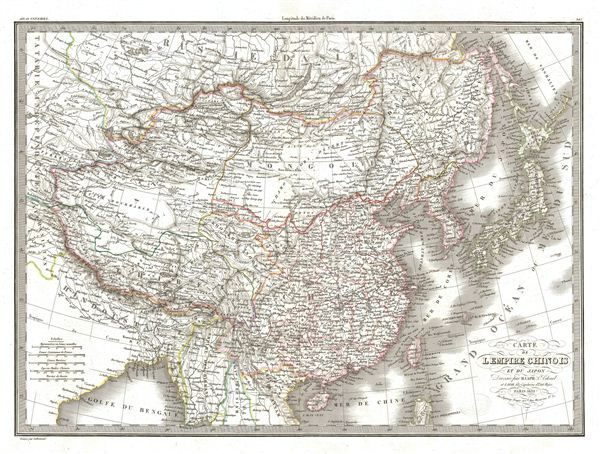Carte de l'Empire Chinois et du Japon. - Main View