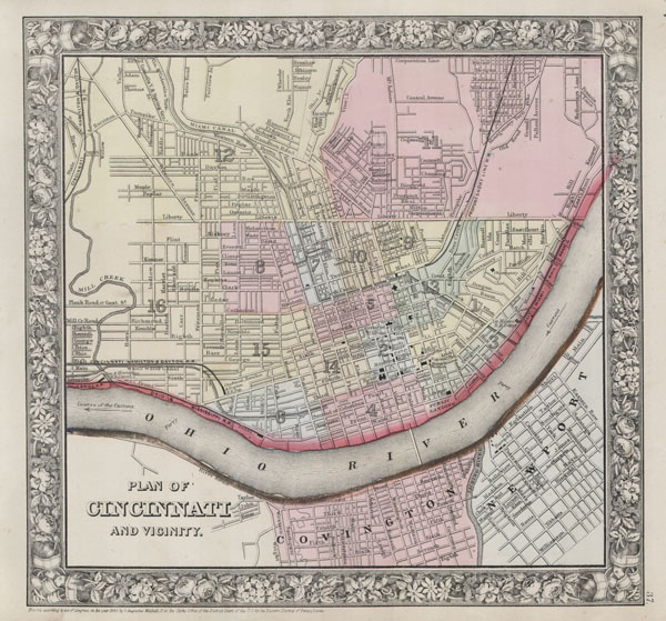 Plan of Cincinnati and Vicinity.