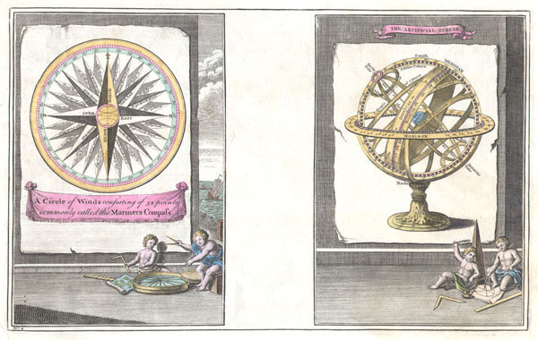 A Circle of Winds consisting of 32 points commonly called the Mariners Compass. / The Artificial Sphere - Main View