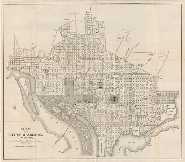 Map of the City of Washington and Vicinity.