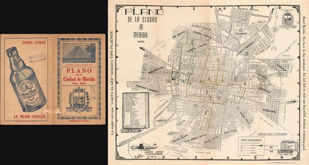Plano de la Ciudad de Merida. - Main View
