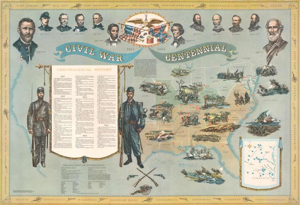 Civil War Centennial 1861 - 1865. - Main View