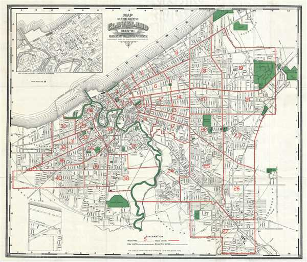 Map of the City of Cleveland for 1890-91.