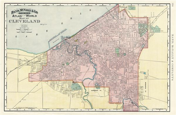 Map of Cleveland.
