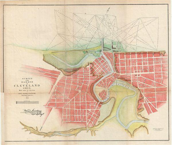 Survey of the Harbor of Cleveland Ohio.