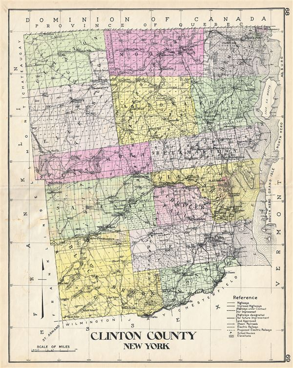Clinton County New York. - Main View
