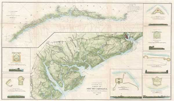 Coast of South Carolina from Charleston to Hilton Head. Sketch E Showing the Progress of the Survey in Section No. V.
