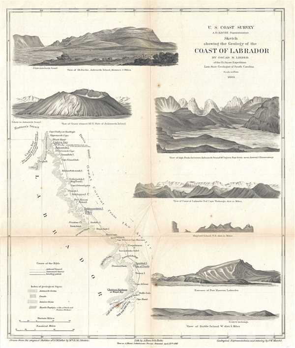 Sketch Showing the Geology of the Coast of Labrador. - Main View