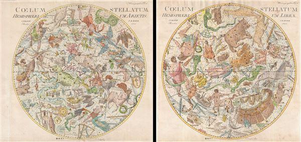 Coelum Stellatum Hemisphaerium Librae / Coelum Stellatum Hemisphaerium Arietis. - Main View