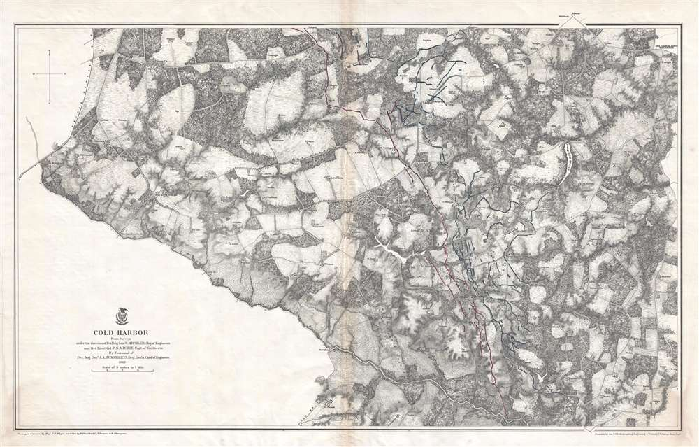 Cold Harbor Geographicus Rare Antique Maps - Map-of-the-us-civil-war