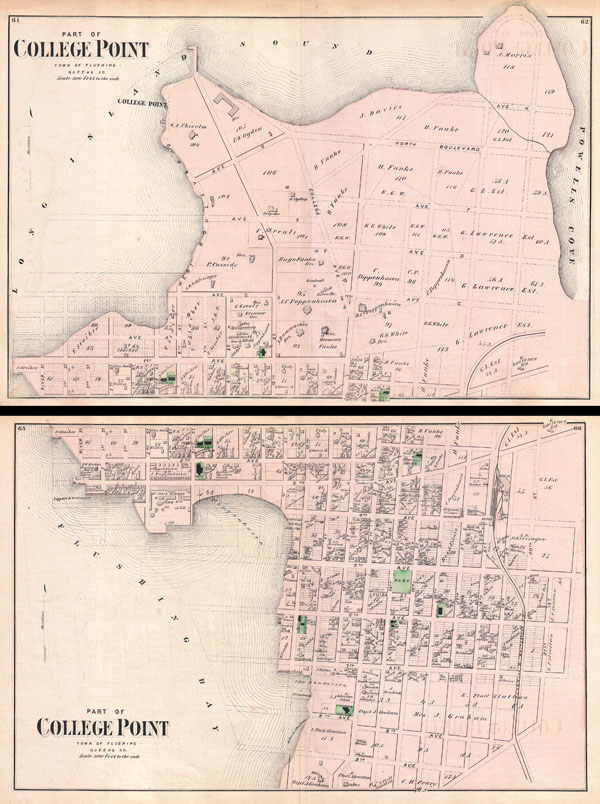Part of College Point, Town of Flushing, Queens Co. / Part of College Point, Town of Flushing, Queens Co. - Main View