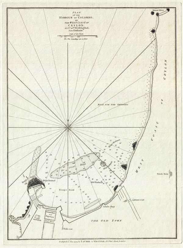 Plan of the Harbour of Colombo, on the West Coast of Ceylon.