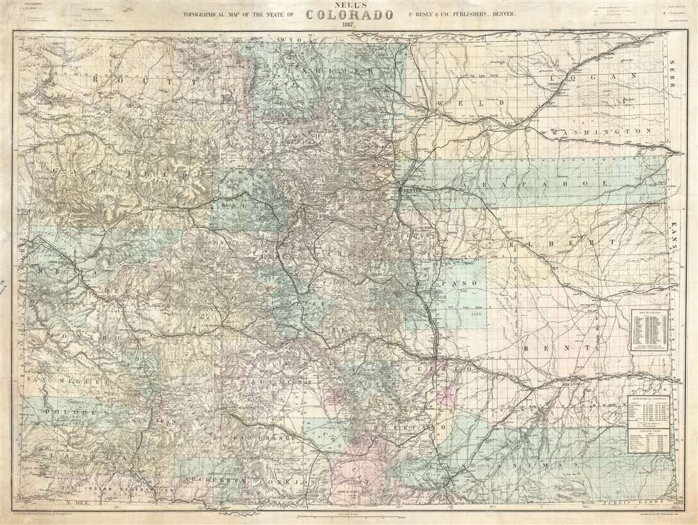 Nell's Topographical Map of the State of Colorado. - Main View