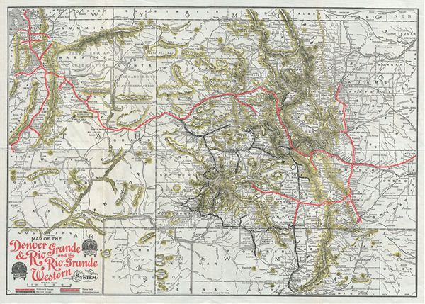 denver and rio grande western railroad map Map Of The Denver Rio Grande And The Rio Grande Western System denver and rio grande western railroad map