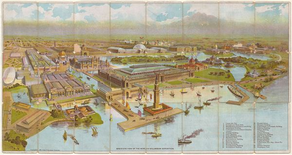 Bird's Eye View of the World's Columbian Exposition.