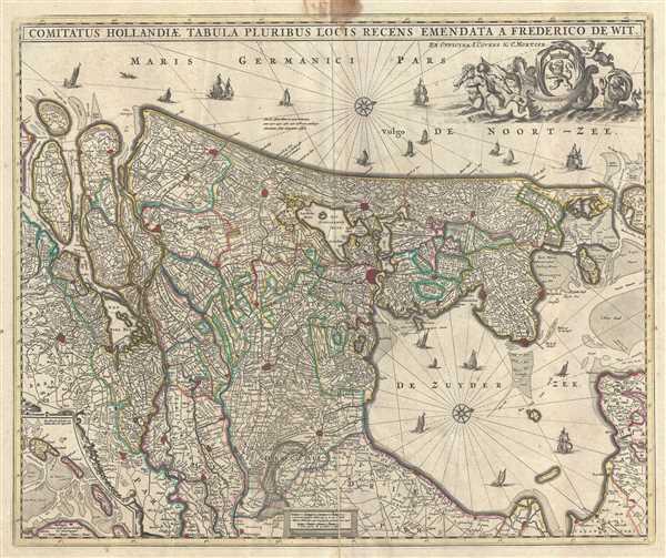 Comitatus Hollandiae tabula Pluribus Locis Recens.