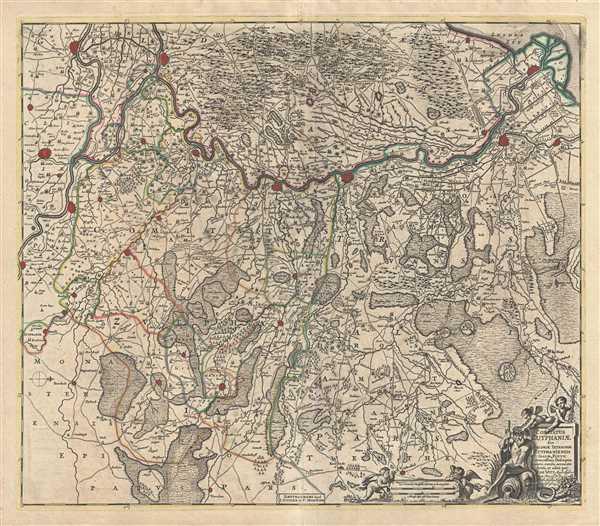 Comitatus Zutphaniae sive Geldriae Tetrachiae Zutphaniensis Isalae Fluvii.