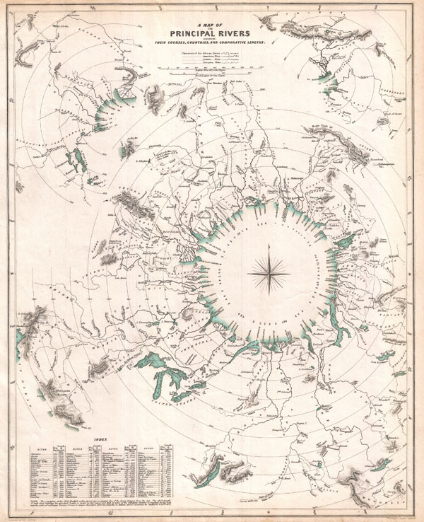 A Map of the Principal Rivers shewing their Courses, Countries, and Comparative Lengths. - Main View