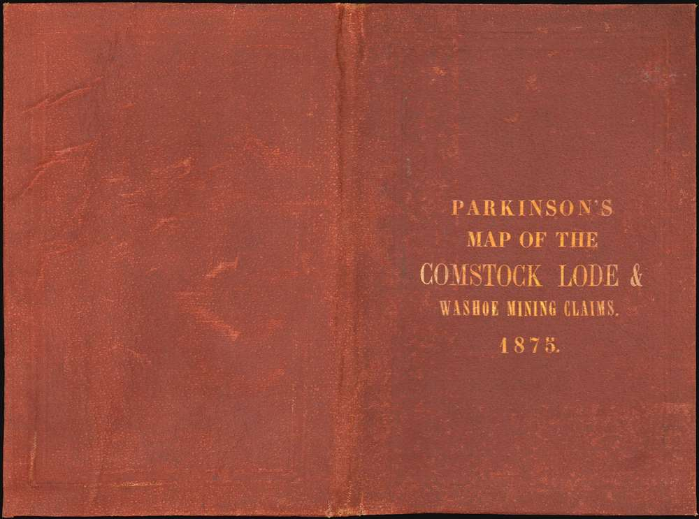 Map of the Comstock Lode and the Washoe Mining Claims in Storey and Lyon Counties, Nevada. - Alternate View 1