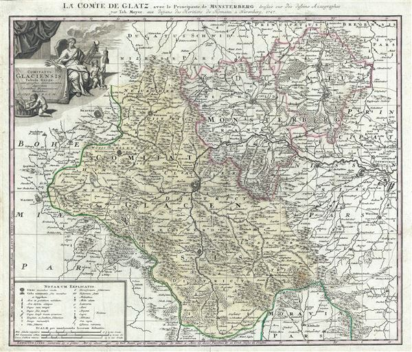 La Comte de Glatz avec le Principaute de Munsterberg.  Comitatus Glaciensis.