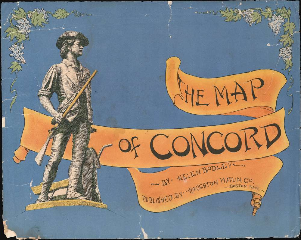 A Map of Concord. The Old Musketaquid Plantation. - Alternate View 1