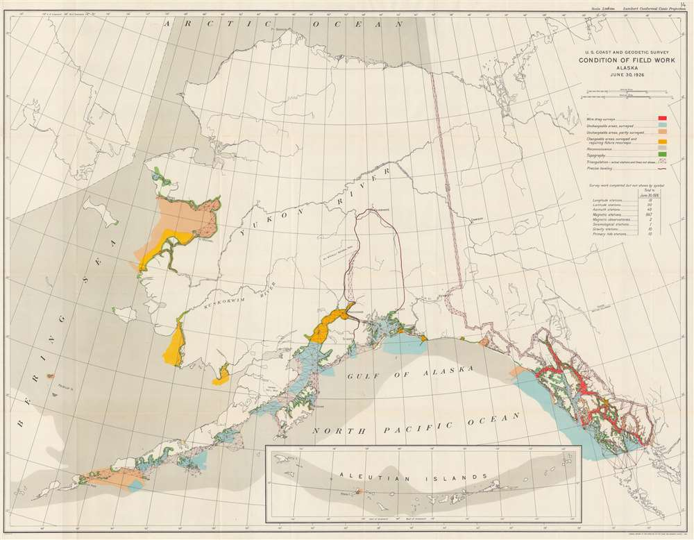 US Coast and Geodetic Survey Condition of Field Work Alaska June