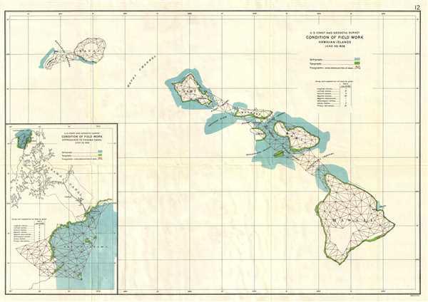 U.S. Coast and Geodetic Survey. Condition of Field Work Hawaiian Islands. June 30, 1926.