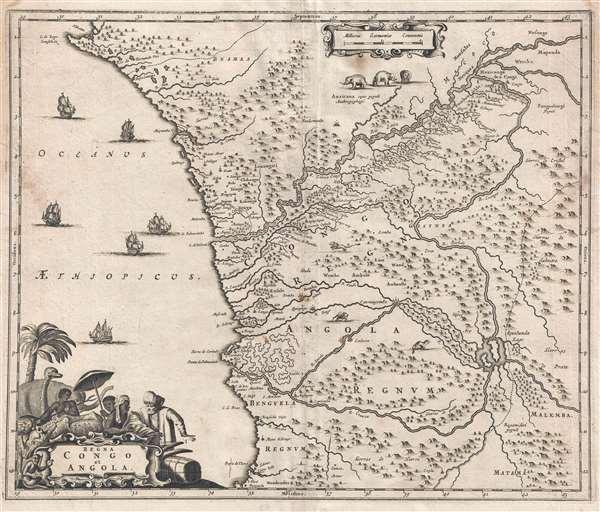 Regna Congo et Angola.