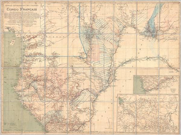 Service Géographique des Colonies Congo Français.