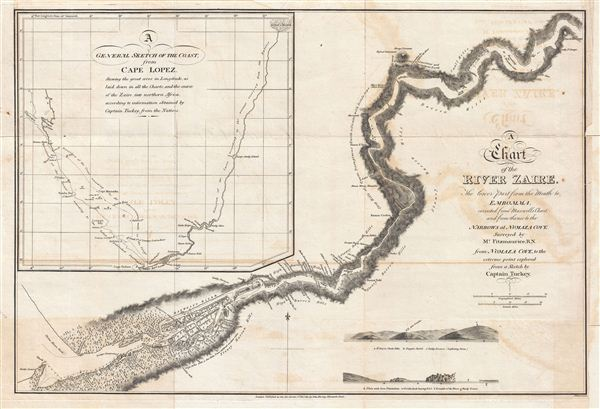 A Chart of the River Zaire, the lower part from the Mouth to Embomma, corrected from Maxwell's Chart, and from thence to the Narrows at Numaza Cove.