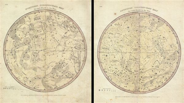 Northern Circumpolar Map for each Month of the Year. / Southern Circumpolar Map for each Month of the Year. - Main View