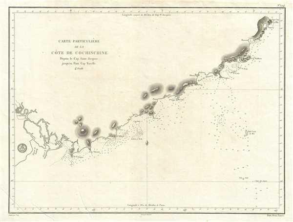 Carte Particuliere de la Cote de Cochinchine Depuis le Cap Saint Jacques jusqu'an Faux Cap Varelle.