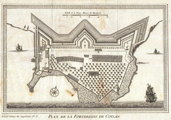 Plan de la Forteresse de Coylan. - Main View