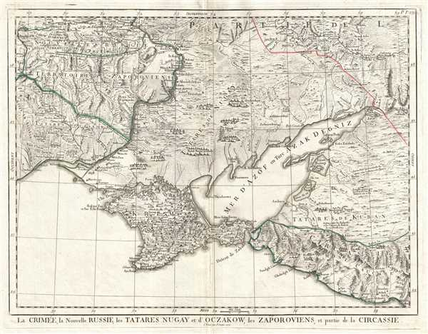 La Crimée, la Nouvelle Russie, les Tatares Nugay et d'Oczakow, les Zaporoviens, et partie de la Circassie.