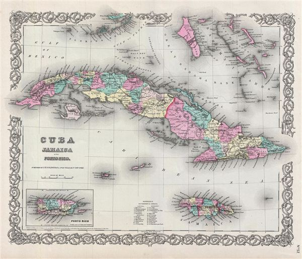 Cuba, Jamaica and Porto Rico. - Main View