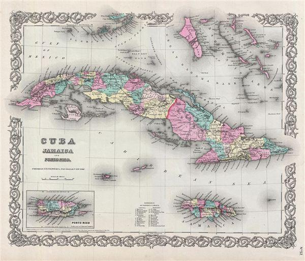 Cuba, Jamaica and Porto Rico.